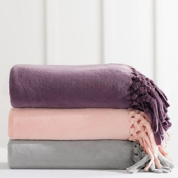 PB Teen Bohemian Fringe Throw, 46x 56, Blush (£34) ❤ liked on Polyvore featuring home, bed & bath, bedding, blankets, bohemian throw, bohemian style bedding, pbteen bedding, bohemian throw blanket and boho style bedding