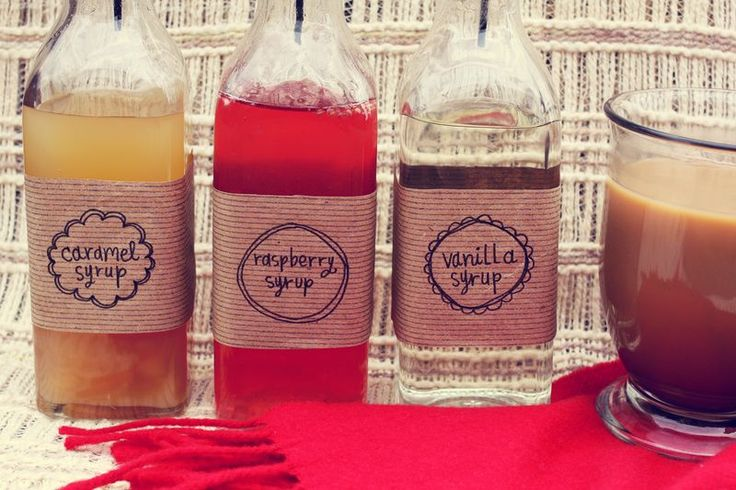 Easy breezy DIY flavored syrup tutorial & gift packaging ideas