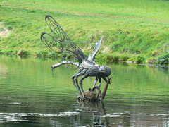 Panoramio - Photo of Dragonfly sculpture, 14 Locks Near Rogerstone