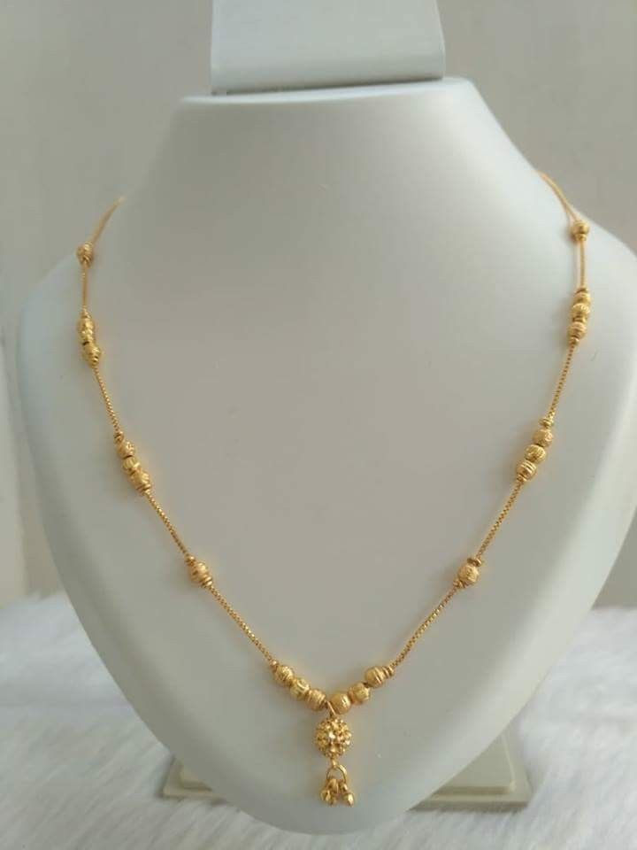 Chitra Gold Jewelry Design Necklace