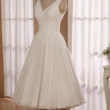 Image result for tea length wedding dresses