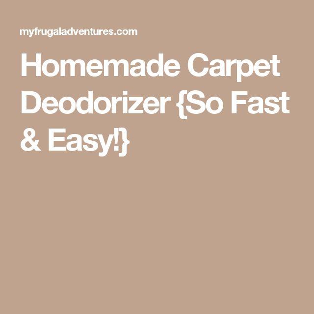 Homemade Carpet Deodorizer {So Fast & Easy!}