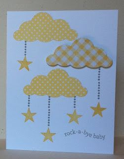 Another cute variation on baby cards.