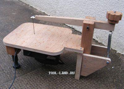 Лобзиковый станок из ручного электролобзика. Jigsaw machine from manual jigsaw.