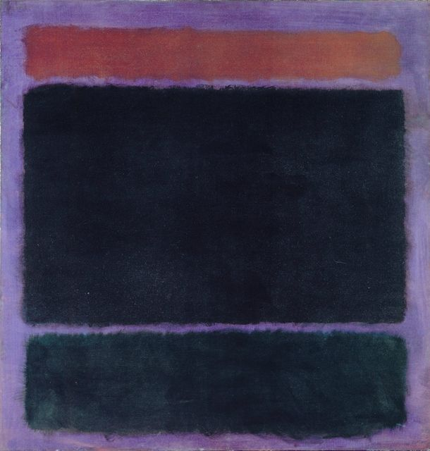 "Mark Rothko, Untitled (Rust, Blacks on Plum), 1962. Oil on canvas, 60"" x 57"". Private Collection, Santa Monica © 1998 Kate Rothko Prizel & Christopher Rothko / Artists Rights Society (ARS), New York. Photo courtesy The Mark Rothko Foundation."