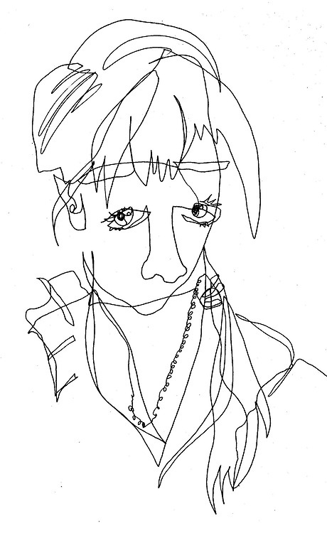 Blind Contour Line Drawing Face : Best contour drawings images on pinterest
