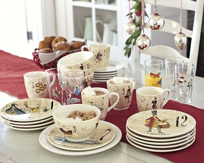 Williams Sonoma 12 Days Of Christmas Dinner Plates