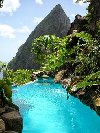 St Lucia Caribbean Islands Ugh I wanna go back to the Carribean islands so bad!   Dream holiday. Maybe by the time I'm 50 I'll reach this side of the world.