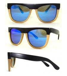 Two tone bamboo polarized sunglasses