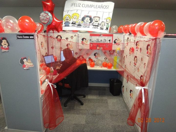 21 best cubicle images on Pinterest Balloon Balloons and Birthday