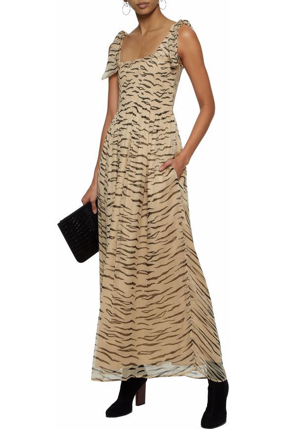 Printed crinkled chiffon maxi dress | GANNI | Sale up to 70% off | THE OUTNET