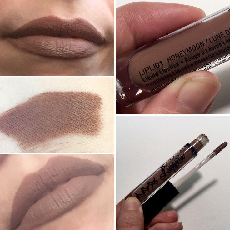 * NYX Liquid Lingerie lipstick in Honeymoon.  Cool medium brown.