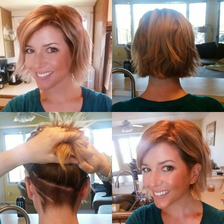 New color, blonde, bob + undercut :-)