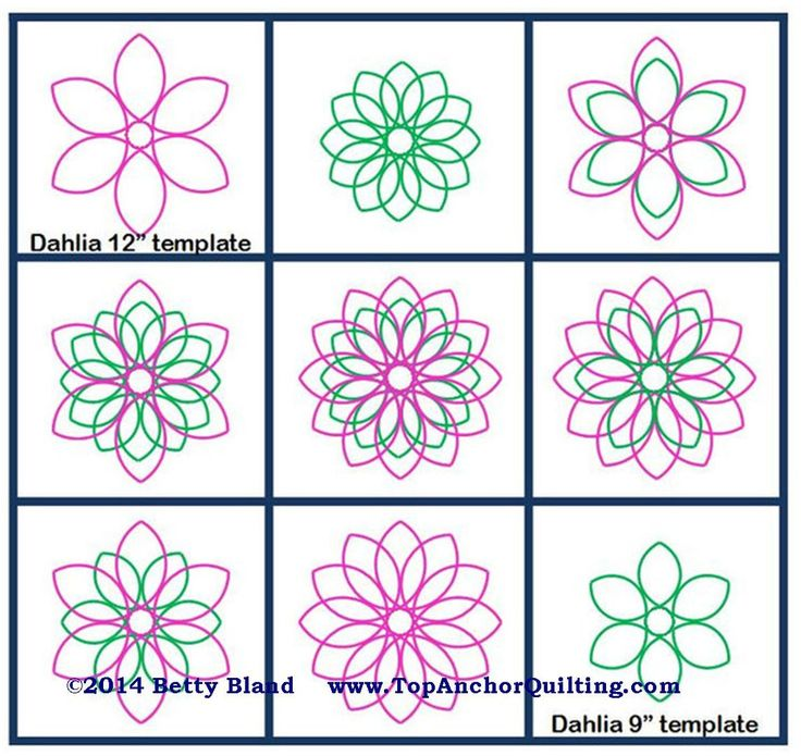 64 best longarm rulers and templates images on pinterest dahlia pink 14 thick longarm quilting templates pronofoot35fo Choice Image