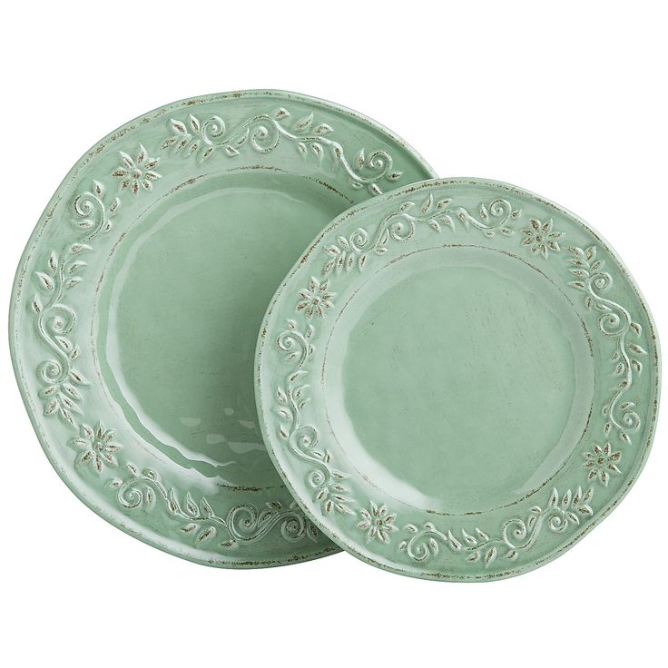 Tuscan Scroll Melamine Dinnerware - Green | *Dinnerware ...