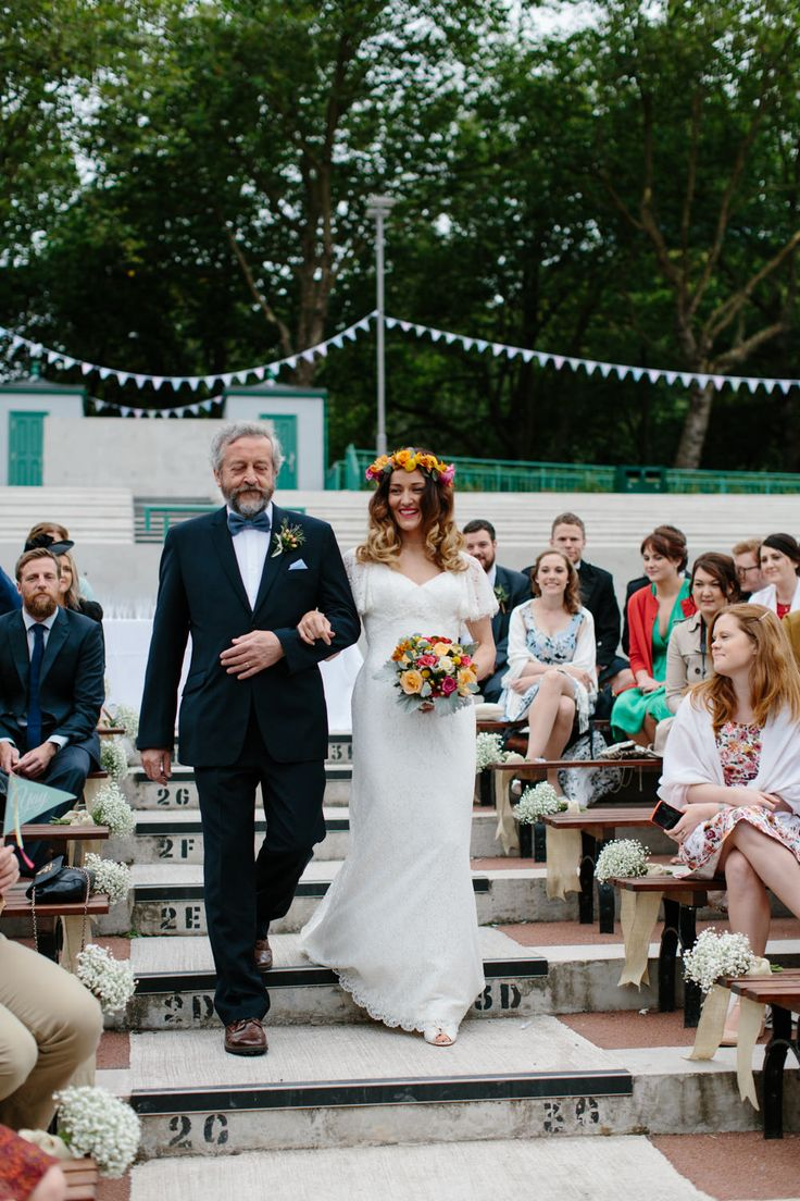 The 25 best bridesmaid dresses glasgow ideas on pinterest lace charlotte balbier elodie gown for an outdoor ceremony at kelvingrove bandstand in glasgow with pale blue bridesmaid dresses bright flower crown ombrellifo Gallery