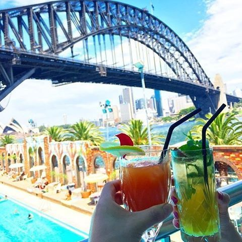 Drinks with a view at a restaurant with a view in Sydney by Aqua Dining!