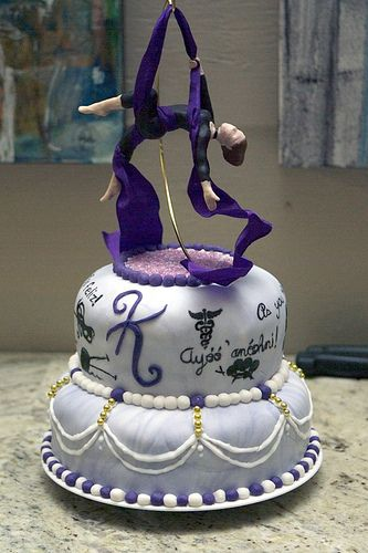 Aerialist cake topper! I was trying to find an aerialist bride cake topper but this is all I've come up with so far :D