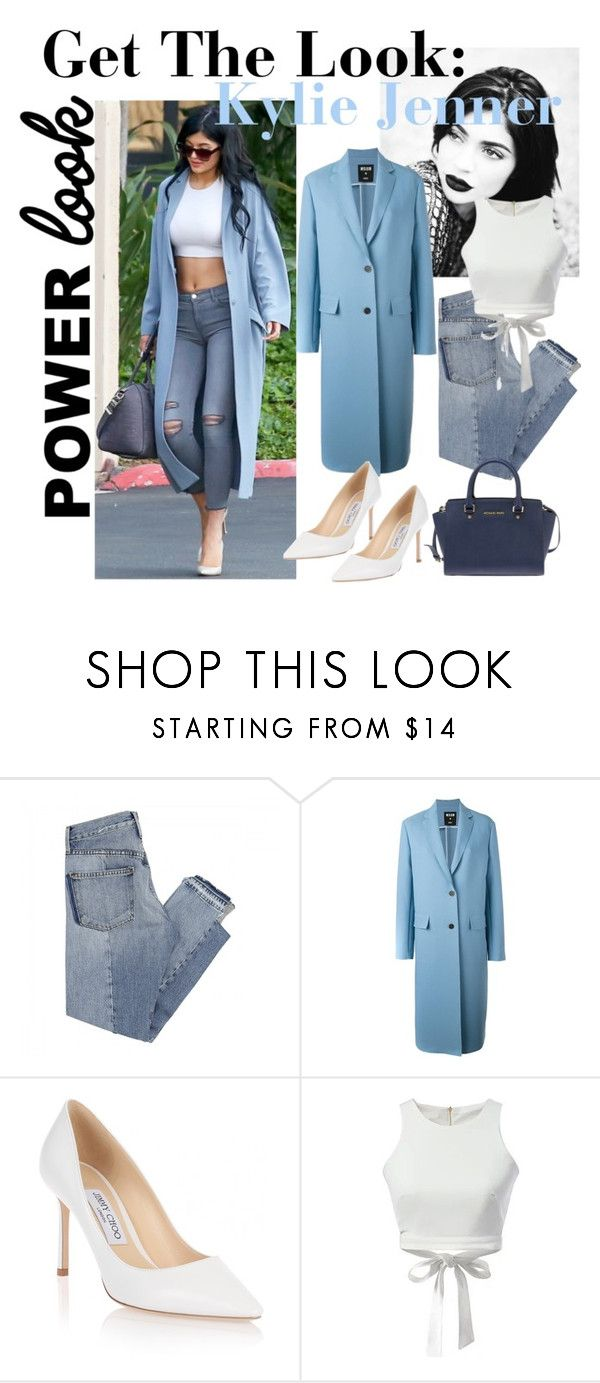 """""""Get The Look: Kylie Jenner"""" by sadia1998 ❤ liked on Polyvore featuring Mix Nouveau, MSGM, Jimmy Choo, WithChic and Michael Kors"""