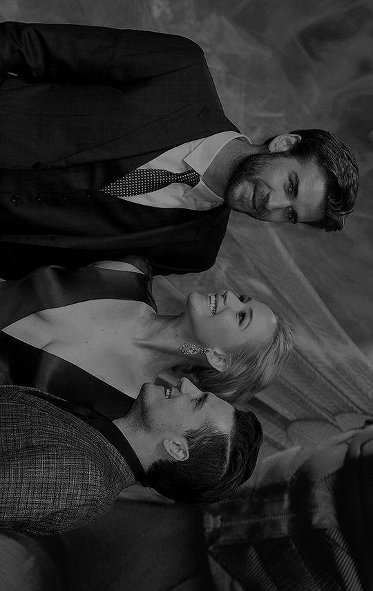 Jennifer Lawrence, Liam Hemsworth & Josh Hutcherson