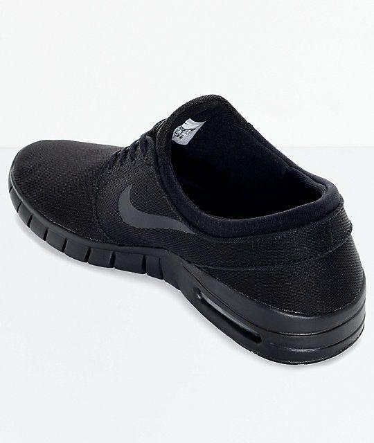 189aef333185 Nike SB Stefan Janoski Air Max Black and Anthracite Mesh Skate Shoes ...