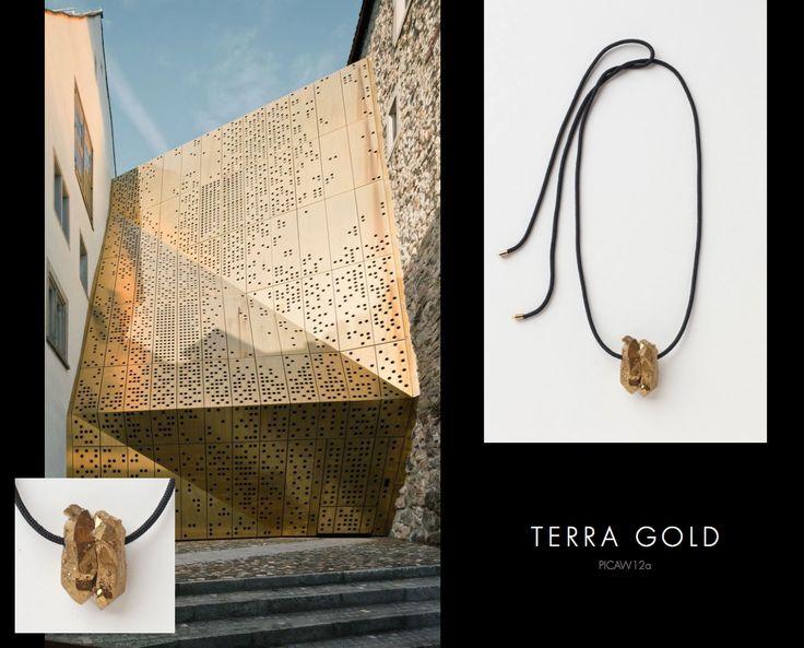 Terra Gold Neckpiece, Buy online: www.pichulik.com/shop