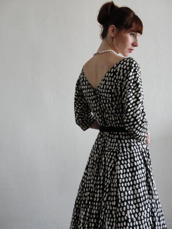 1950 polka dot dress