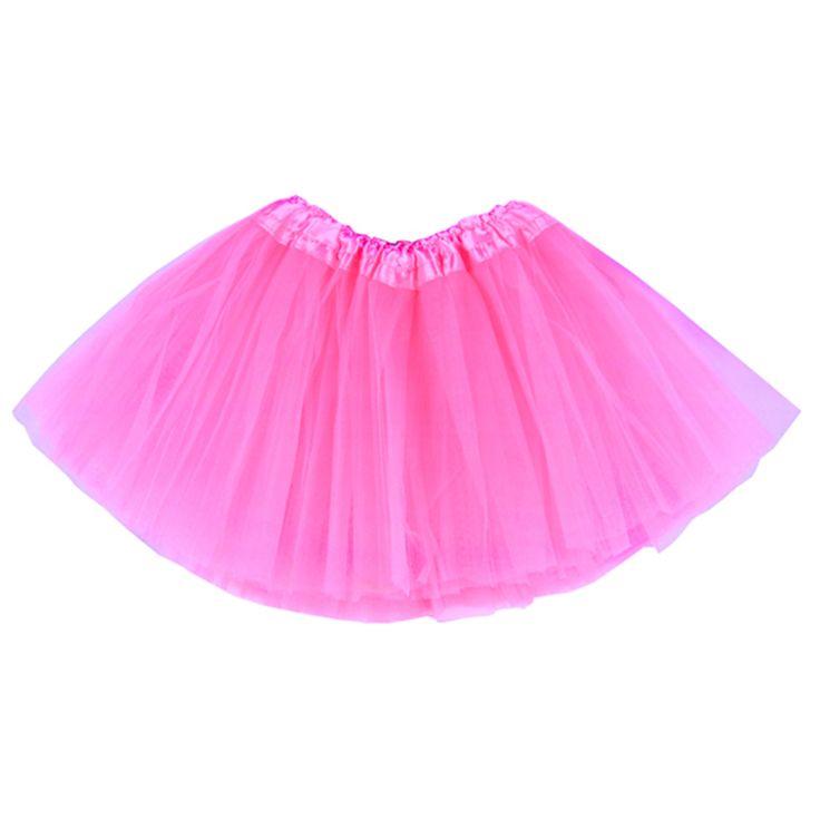 2-7 éveseknek való csillogó halvány rózsaszín tütü / tüll szoknya
