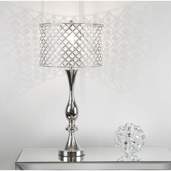 Greyleigh Thrall 27 5 Table Lamp Reviews Wayfair Table Lamp Lamp Crystal Table Lamps