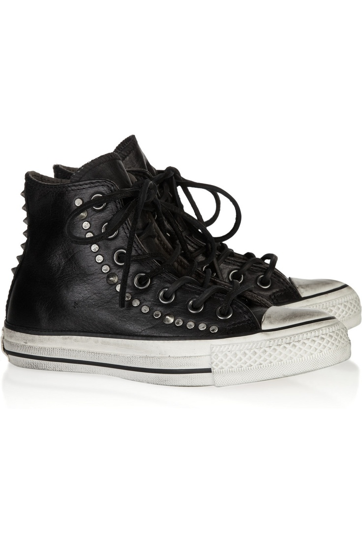 CONVERSE  Chuck Taylor studded leather high-top sneakers
