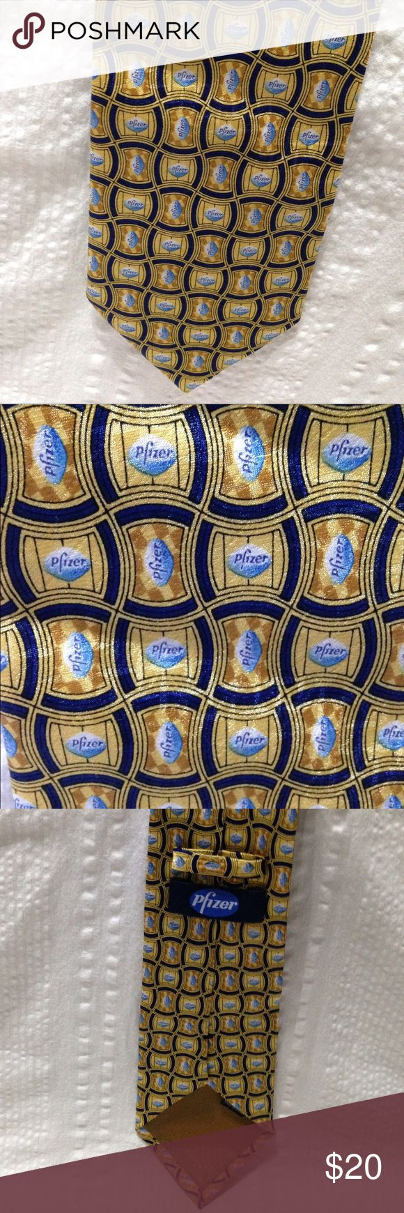 Selling this Pfizer Viagra necktie tie advertising drugs on Poshmark! My username is: onemanstrashwp. #shopmycloset #poshmark #fashion #shopping #style #forsale #Pfizer #Other