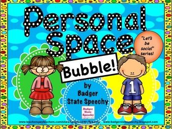 """Children with autism, ADHD or other developmental challenges often have difficulties discerning social rules, such as personal space. I've made an engaging social story intended to teach the concept of the """"personal space bubble."""" 