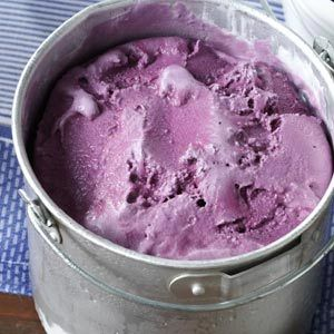 Blackberry Frozen Yogurt Recipe from Taste of Home -- shared by Rebecca Baird of Salt Lake City, Utah