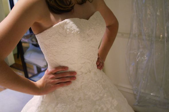 Details, lace of Alcanar Pronovias