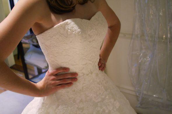 Details, lace of Alcanar Pronovias