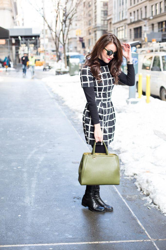 Paint Check Dress | Dallas Wardrobe