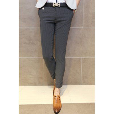 Style: Fashion  Material: Cotton, Polyester  Fit Type: Regular  Waist Type: Mid  Closure Type: Zipper Fly  Front Style: Flat  Weight: 1KG  Pant Length: Nine minutes of Pants  Pant Style: Straight  Package Contents: 1 x Nine Minutes of Pants