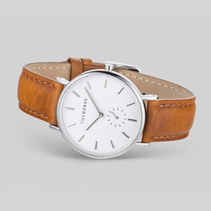 Armbanduhr von 'The Horse' in Braun