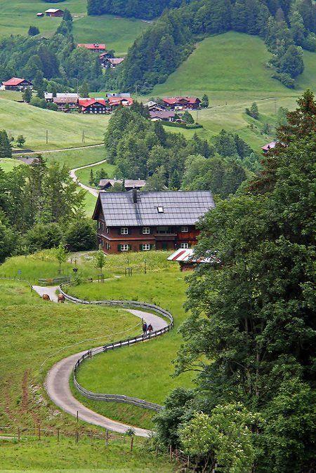 The way to the valley.. #Allgäu, #Bavaria, #Germany