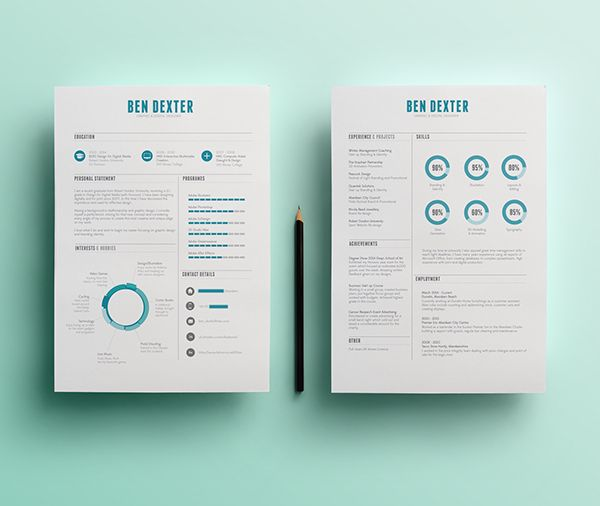 33 best Stylish Resumes images on Pinterest Resume templates - 2 page resume