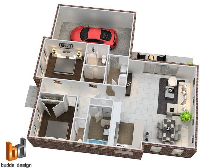 24 best 3D house plans images on Pinterest Architecture, Homes - 3d house plans