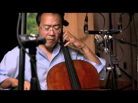 """Edgar Meyer, Chris Thile, Stuart Duncan, Yo-Yo Ma, and Aoife O'Donovan perform """"Here and Heaven"""" from the album The Goat Rodeo Sessions."""