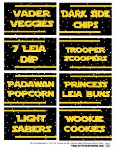 Over The Big Moon May the 4th Be with You - Star Wars Food Free Printables - Over The Big Moon