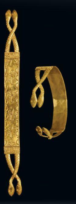 Greek snake style bracelet, ca 200 B.C.
