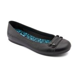 School Shoes: Black Leather Girls Slip-on Angry Angels http://www.startriteshoes.com/school-shoes
