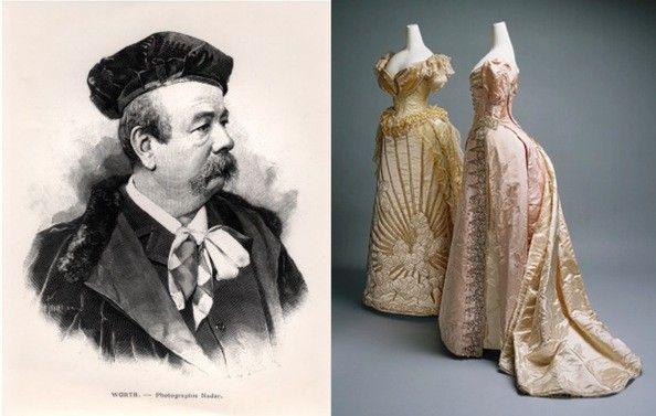 Charles Frederick Worth. Orígenes de la alta costura; simplificación indumentaria, abandono de la crinolina por la polisson, cambio en la concepción de la moda y una asimilación de la figura del modisto al artista.