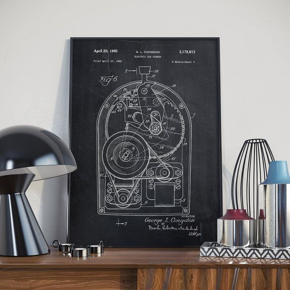 Electric Can Opener Patent Electric Can Opener Poster by dalumna
