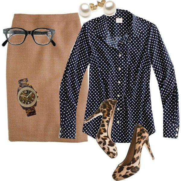 Dots and spots...can I do tan skirt/pants, black and white polka dots and leopard shoes?