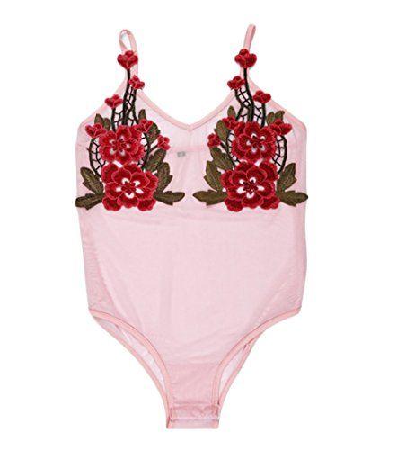 New Trending Bodysuits: Pettstore Womens Bodysuit Sexy Flower Embroidery V-neck Bodysuit Pink Romper (S). Pettstore Women's Bodysuit Sexy Flower Embroidery V-neck Bodysuit Pink Romper (S)  Special Offer: $11.20  344 Reviews Size:S:Bust:72-84cm28.3′-33.1′ Waist:64cm25.2′ Length:64cm25.2M:Bust:76-88cm29.9′-34.6′ Waist:68cm26.8′...