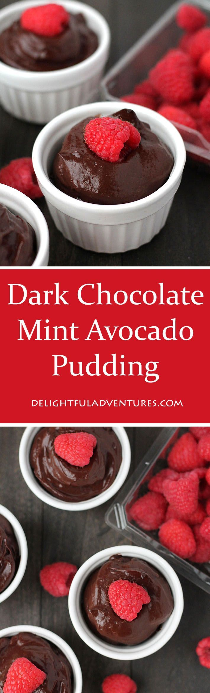 This sweet dark chocolate mint avocado pudding is smooth, chocolaty, and decadent. The best part about it? No one will believe it's made with avocados! via @delighfuladv